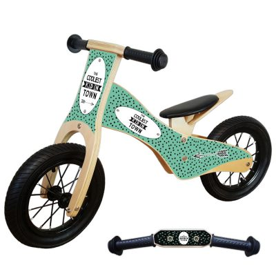 Houten-Loopfiets-deluxe-coolest-kid-mint