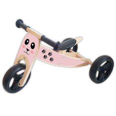 houten-loopfiets-2-in-1-beertje-roze