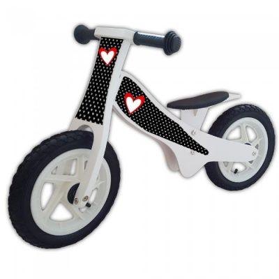 houten loopfiets-wit-hartekes-rood